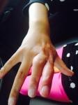 Maholy's hand